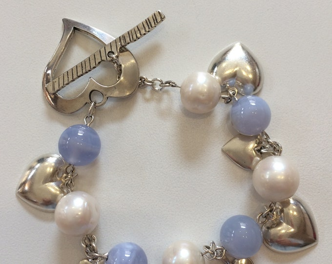 Chalcedony, Pearls and Hearts