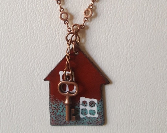 Enamel House with Key