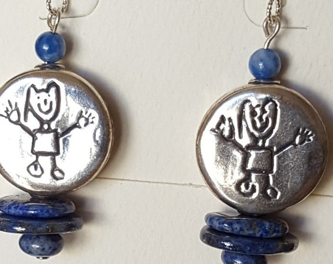 The Kids..Lapis and Sterling Silver