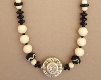 Onyx and Cowbone with Sterling Face