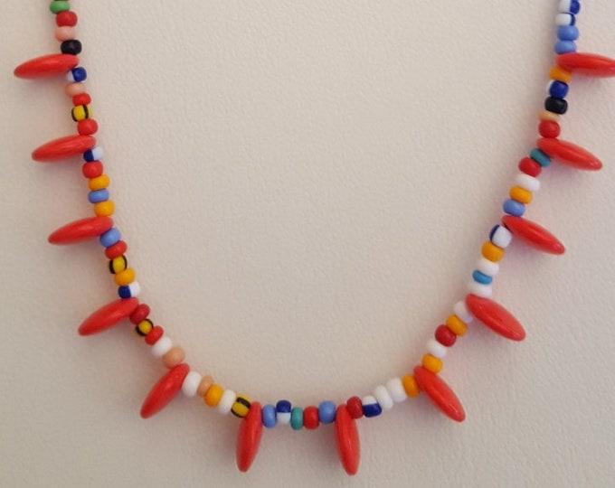 Multicolor Funky Bead Necklace