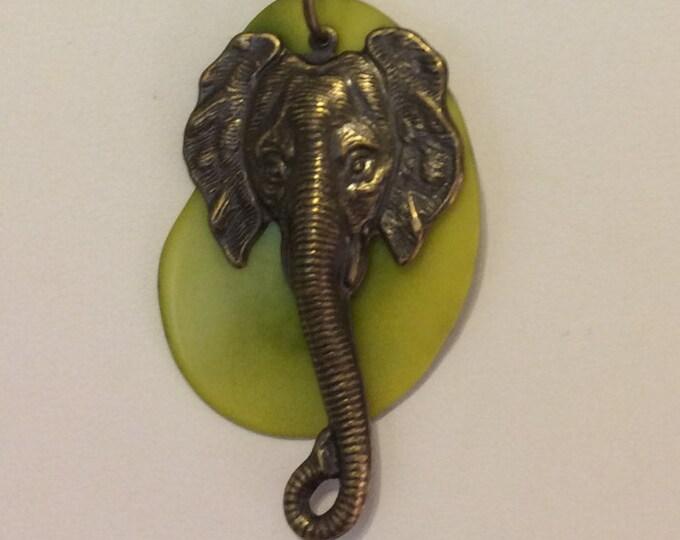 Elephant and Tagua Nut