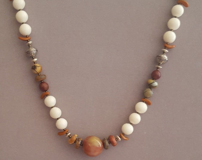 Southwestern Maple Jasper Necklace