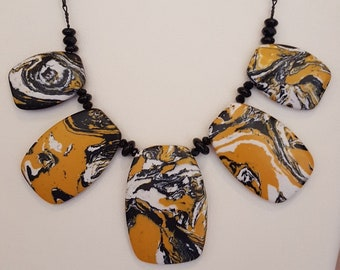 Black and Yellow Jasper Necklace