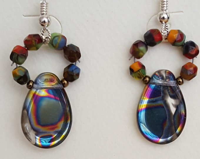 Iridescent Bead Earrings
