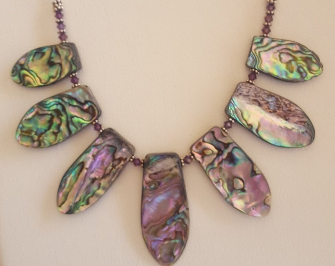 Abalone and Swarovski Necklace