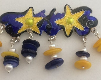 Stars and Shells Pin