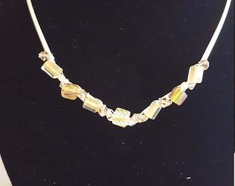 Cane/Furnace Glass Collar Necklace