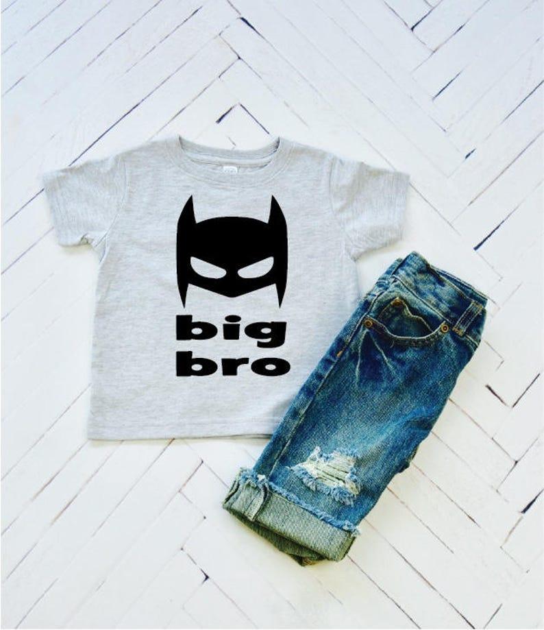 Big Bro Superhero Brother Big Brother Toddler Tee Baby image 0