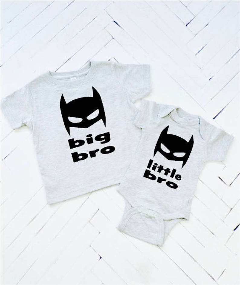 Little Bro or Big Bro Superhero Brother Big Brother Toddler image 0
