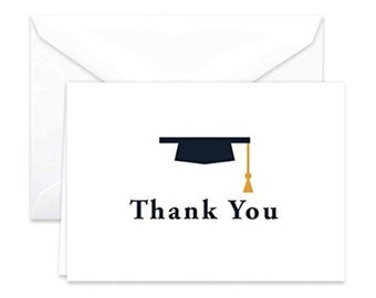Paper Frenzy Graduation Thank You Note Cards and Envelopes 25 pack