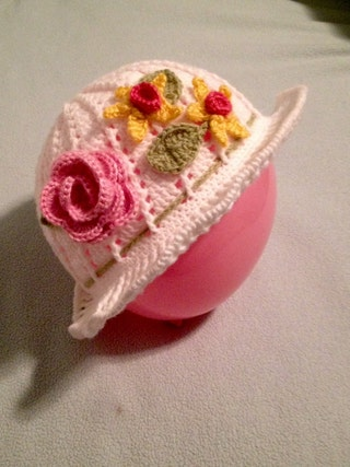 Girl's Flower Hat - Baby Flower Hat - Girls Clothing - Children's Hats - Hats for Babies - Baby Shower Gifts - Crochet - Spring Hats - Flowe