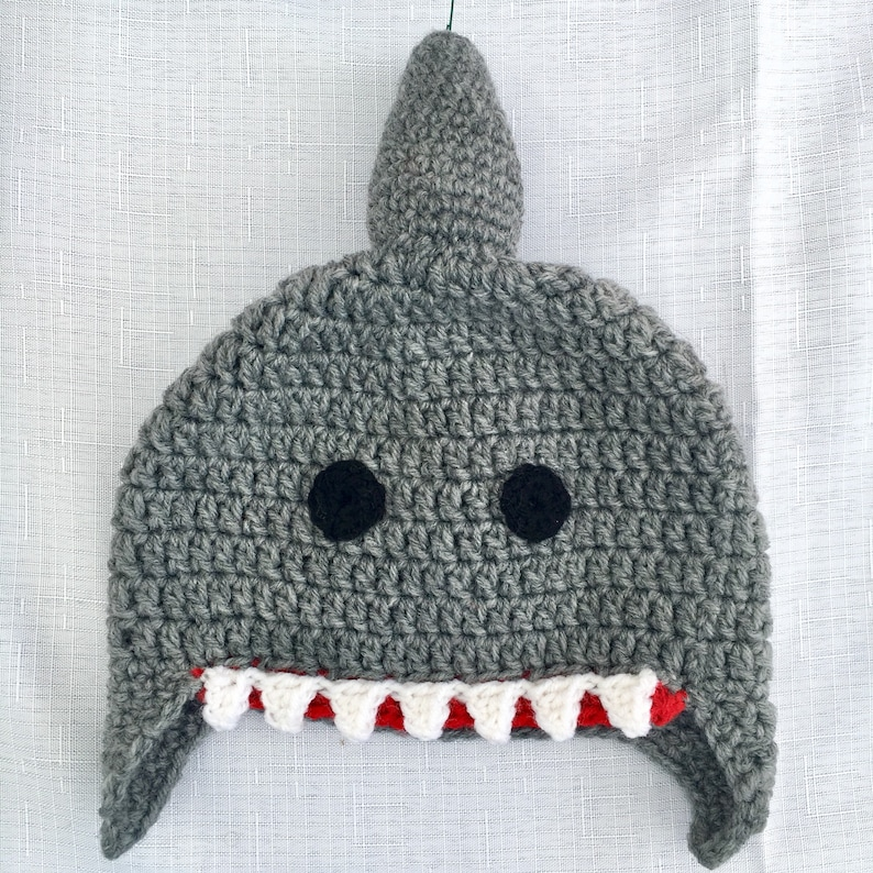 22d61424f75 Shark Hat Shark Hat for Kids Shark Head Hat Crochet