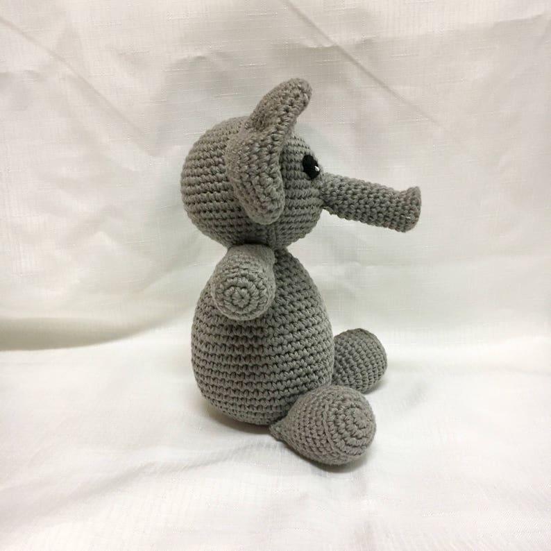 5e0dbc8704c33 Baby Elephant - Baby's Toy Elephant - Baby Shower Gifts - Children's Gifts  - Crochet Stuffed Animal Elephant - newborn present - Handmade