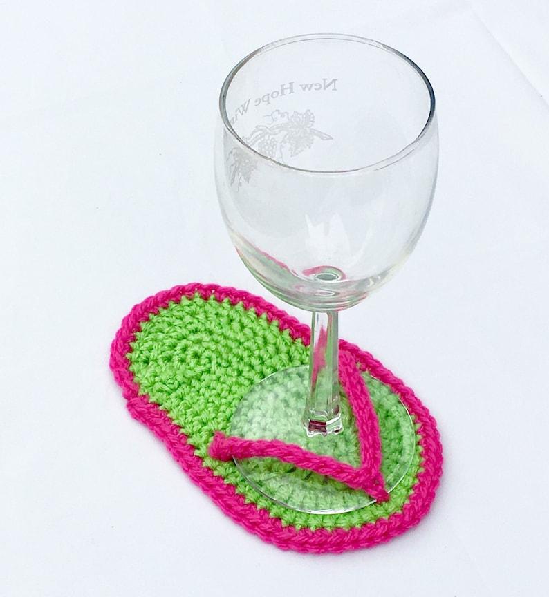 54ff74d75 Flip Flop Coasters Wine Glass Coasters Beach Themed Decor