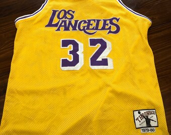 ba4bb1472 Magic Johnson Lakers Throwbacks Jersey 32 Los Angeles Large