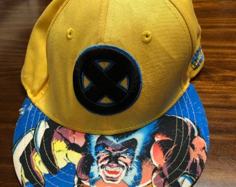 7848a1a2d9d5c Woverine cap Hat snapback Marvel X-Men Yellow