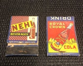 Lot of 2 matchbooks Royal Crown Cola and Nehi Beverages