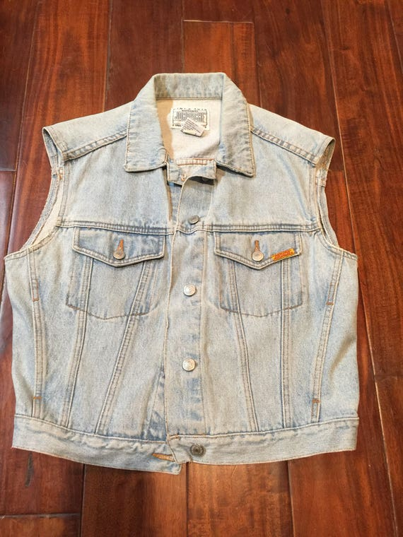 Jordache vintage 1980's denim vest jacket medium