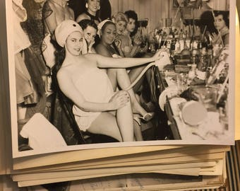 1950's burlesque backstage photograph 8x10 show girls Montreal