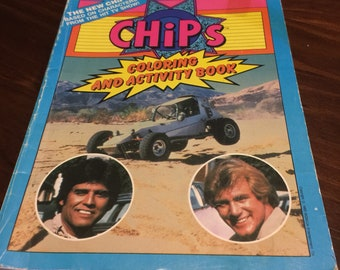 1983 Chips TV coloring and activity book