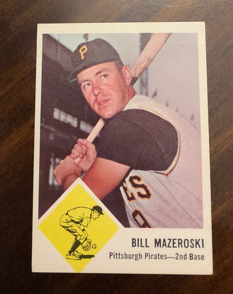 1963 Fleer Baseball Original Card Bill Mazeroski 59 Pittsburgh Pirates