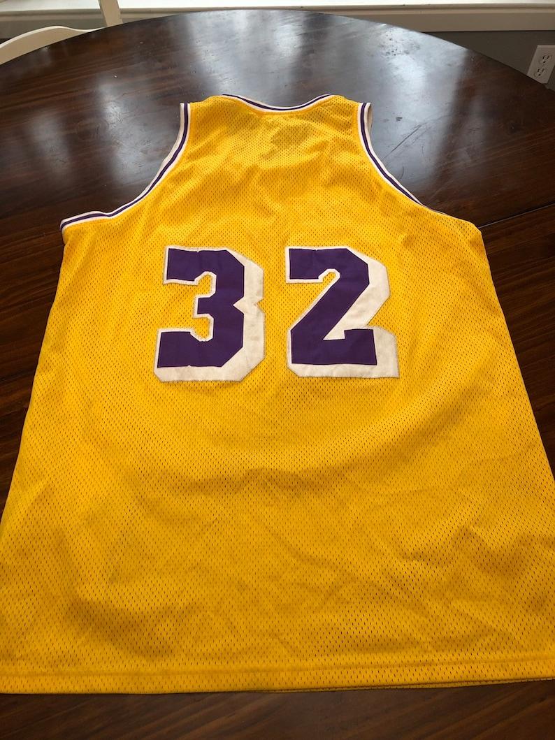 15eb9de821f Magic Johnson Lakers Throwbacks Jersey 32 Los Angeles Large | Etsy