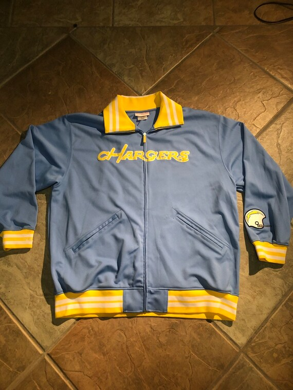 big sale 8f3dd 12e37 Retro San Diego Chargers Mitchell & Ness jacket 3X warmup track