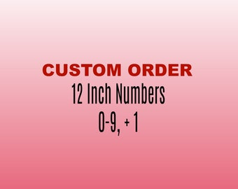 12 Inch Wooden Numbers 0-9, 1