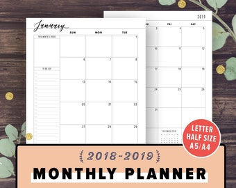 16 month weekly planner 20182019 daily and monthly yearly schedule journal agenda september 2018 december 2019 black gold chevron
