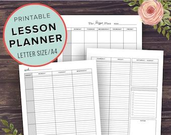 teacher planner printable etsy