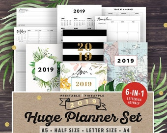 student planner 2018 2019 academic planner printable college etsy