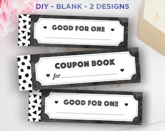 printable coupon book diy blank vouchers printable women gifts for kids best friend mom dad men printable coupons instant download