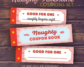 Gift For Boyfriend Naughty Love Coupon Book