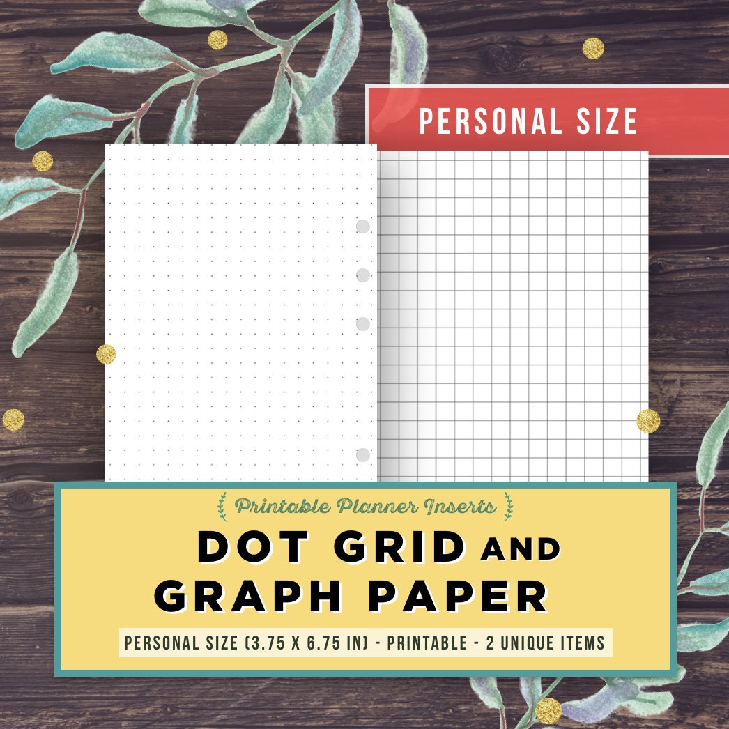 Bullet Journal Template: DOT GRID GRAPH paper Personal Size | Etsy