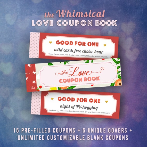 Diy Romantic Christmas Gifts: Love Coupons Book For Him Valentines Day Gift Ideas