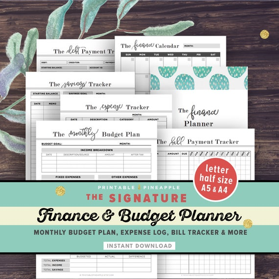 financial planner budget planner printable finance planner etsy