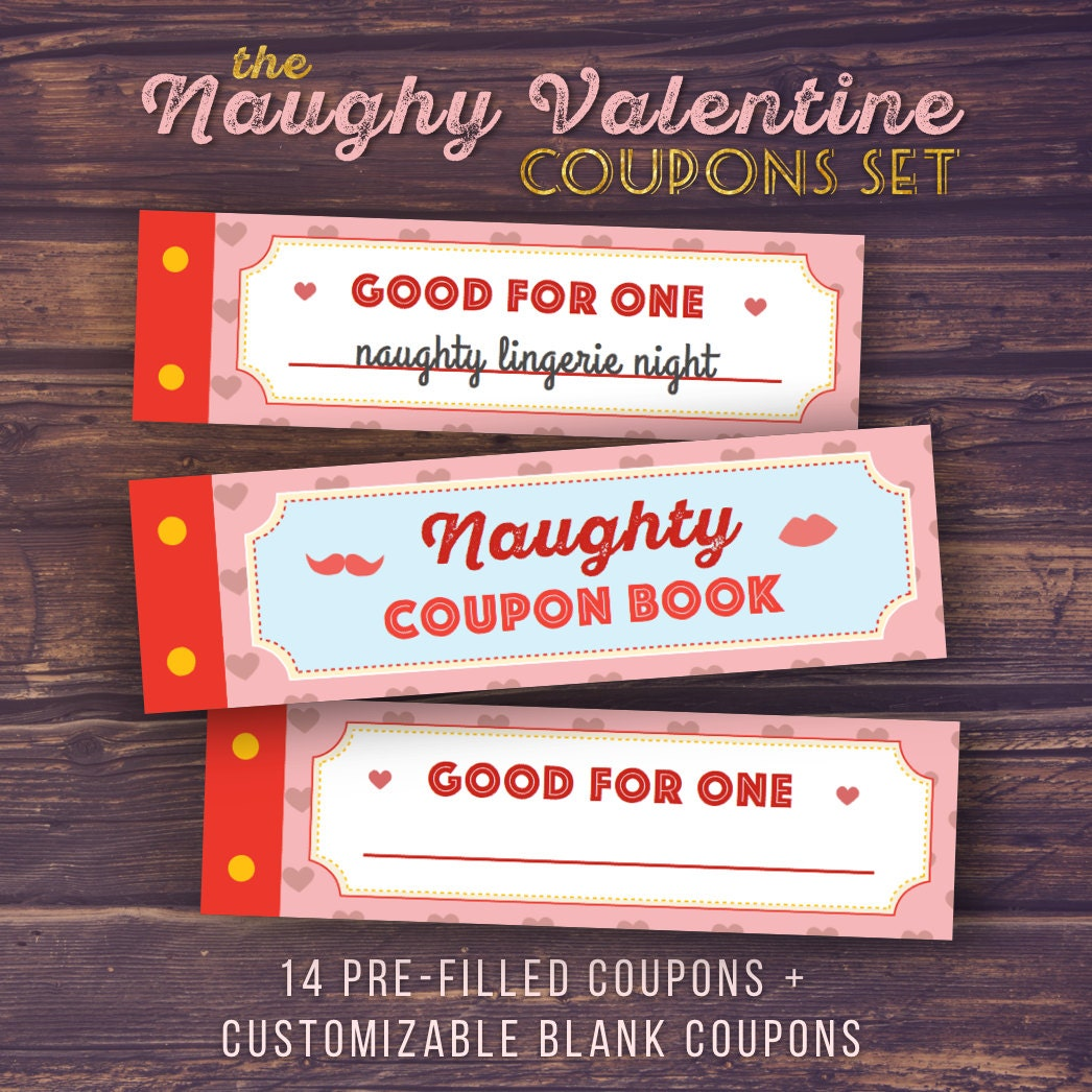 gift for boyfriend naughty love coupon book printable | etsy
