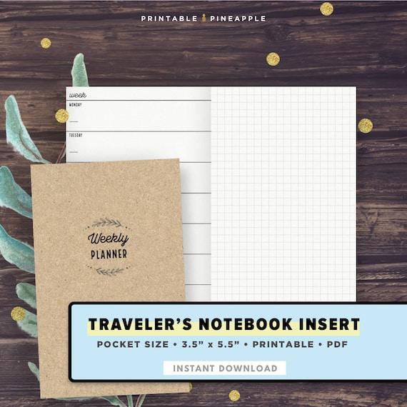 Pocket Size Tn Undated Horizontal Weekly Planner On 2 Etsy