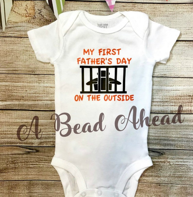535c8434 Baby Jail Bodysuit First Father's day for baby baby | Etsy