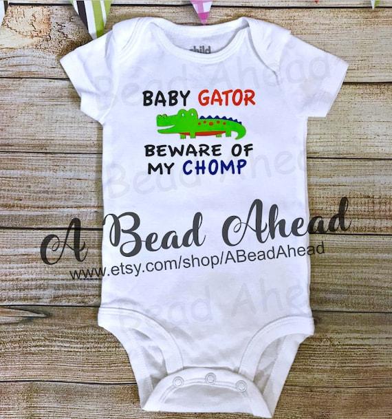 University of Florida Gators UF bodysuit Gator Outfit Custom Florida Gators Gator Bodysuit Florida Gator Baby Baby Gator