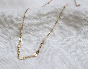Laurel Necklace in gold - simple and dainty gold filled necklace