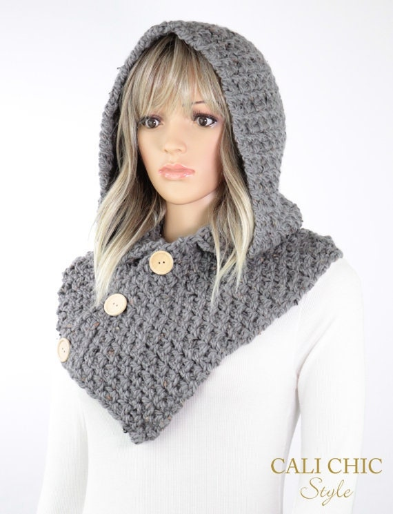 Amelia Hooded Cowl Pattern 809 Crochet Hooded Scarf Pattern Etsy