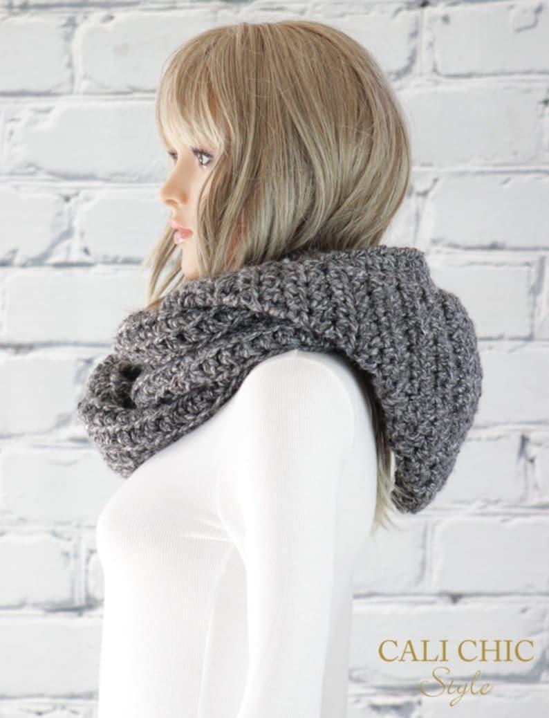 7d54340ecc4 Alexia Hooded Scarf Pattern #800, Crochet Hooded Infinity Scarf Pattern,  Crochet Scarf PATTERN, Digital PDF Pattern Download