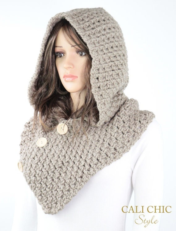 Crochet Hooded Cowl Pattern 809 Amelia Hooded Scarf Pattern Etsy