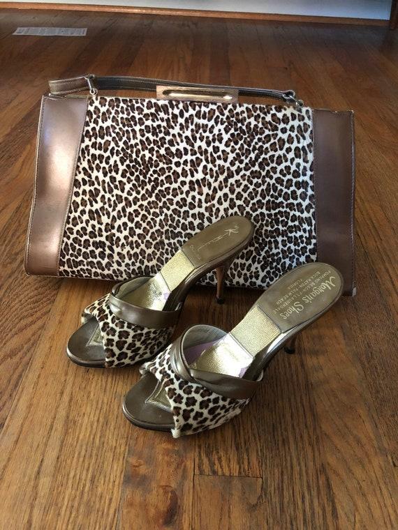 SALE! Vintage 1950s leopard springolator matching