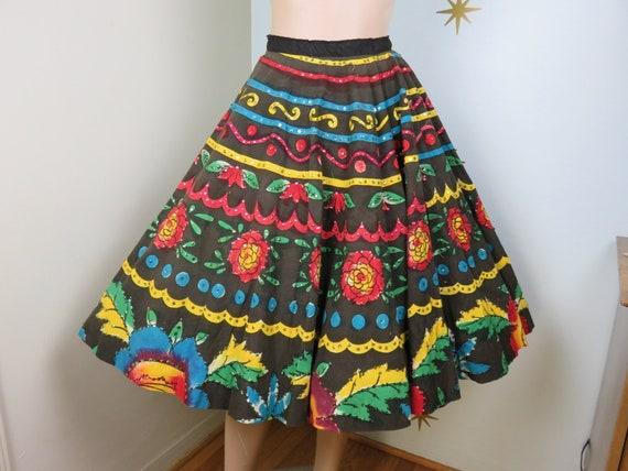 SALE! Vintage 1950s rainbow sequins Mexican hand p