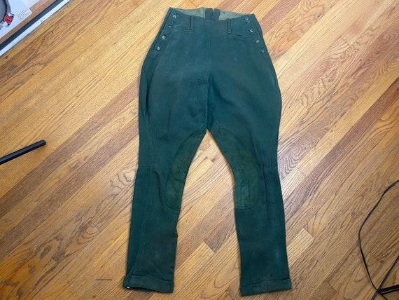 Vintage 1940s green gabardine jodhpurs riding pant
