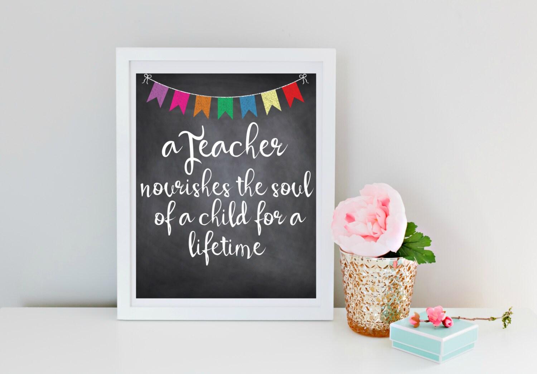 Wertschätzung für Lehrer Lehrer-Geschenk Lehrer nährt die | Etsy