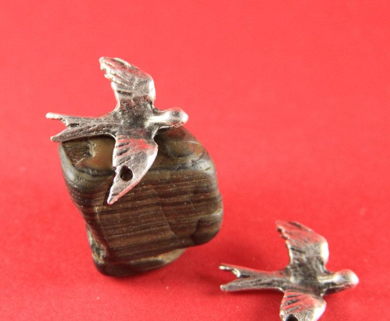 Qty2 X745AS mykonos bird pendant 81 MADE in GREECE 2 Mykonos silver swallow pendants silver dove pendant